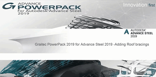 Adding Roof Bracings using the Graitec PowerPack 2019 for Advance Steel 2019 youtube