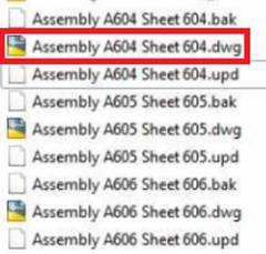 Advance Steel Assembly drawing A604 Document Manager