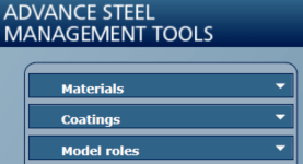 How to add a grout model role to a concrete element in advance Steel pict6