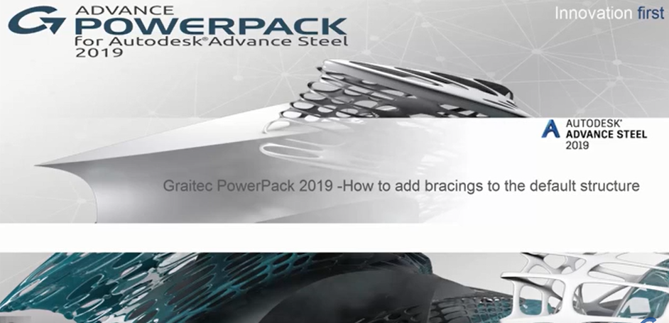 How to add Side Bracings using Graitec PowerPack 2019