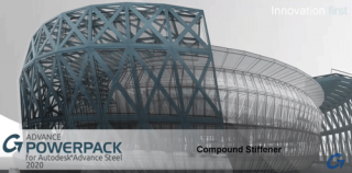 How to use the Compound Stiffener tool in the Graitec PowerPack for Autodesk Advance Steel