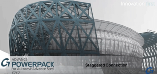 Exploring the Staggered Connection tool in the Graitec PowerPack for Autodesk Advance Steel