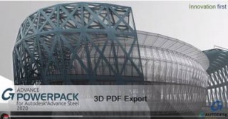 How to export a 3D PDF of a model structure using the Graitec PowerPack for Autodesk Advance Steel