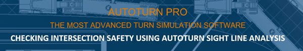 Transoft Autoturn Pro Checking Intersection Safety using Autoturn